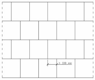 перевязка кладки с применением полных блоков