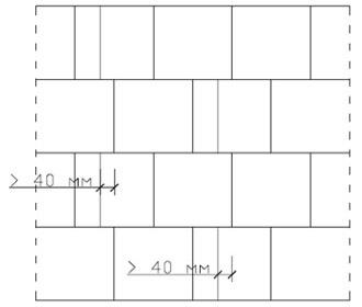 перевязка кладки с применением прирезанных под необходимый размер блоков