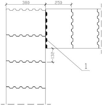 схема кладки керамических блоков в угле