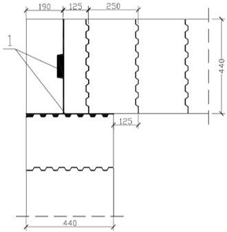 схема кладки керамических блоков в угле здания