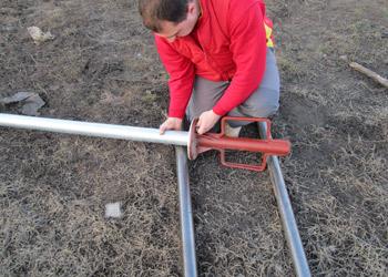 подготовка сваи для ввинчивания в грунт